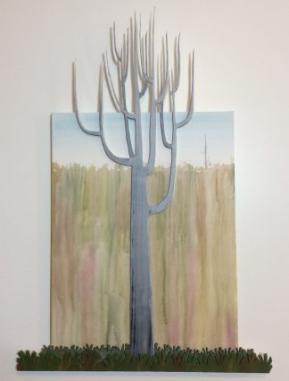 Sentinel - Wood and Acrylic on Canvas